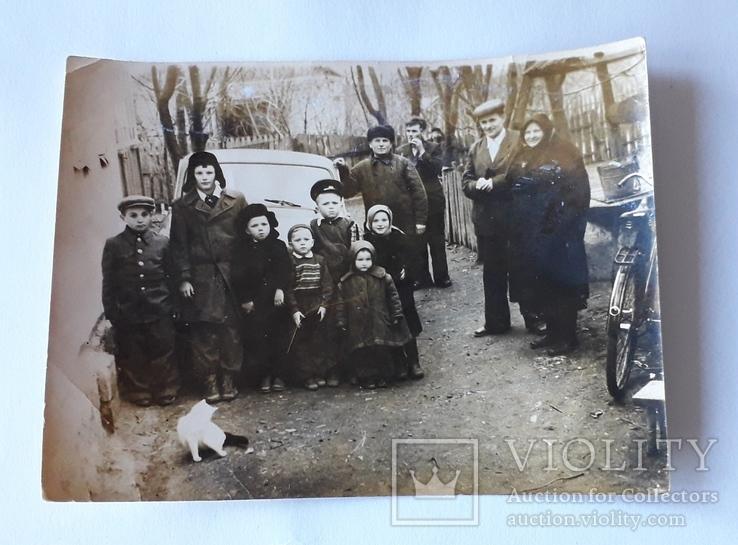 Групповая сельская фотография 1950-е годы (12*9), фото №2