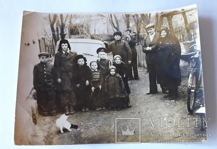 Групповая сельская фотография 1950-е годы (12*9), фото №5