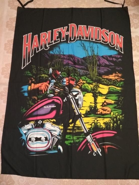 18. Баннер Harley-Davidson, 136x100см, новый, фото №2