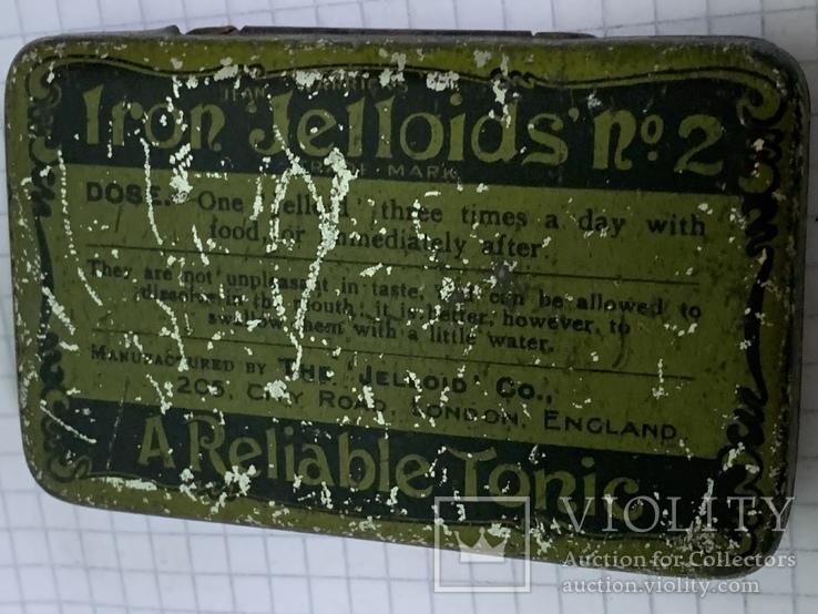 Винтажная зелёная жестяная коробочка с Англии, фото №2