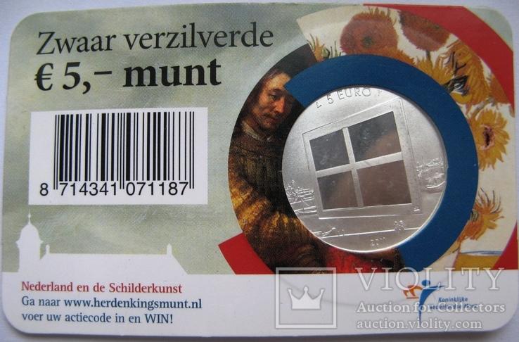 """Нидерланды, 5 евро 2011 """"Живопись Нидерландов"""", фото №3"""