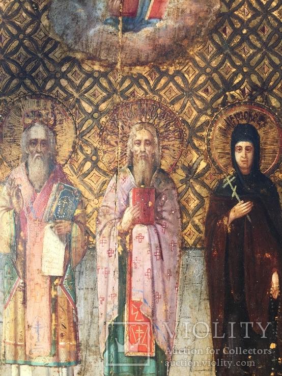 Икона Святых на золоте, фото №3