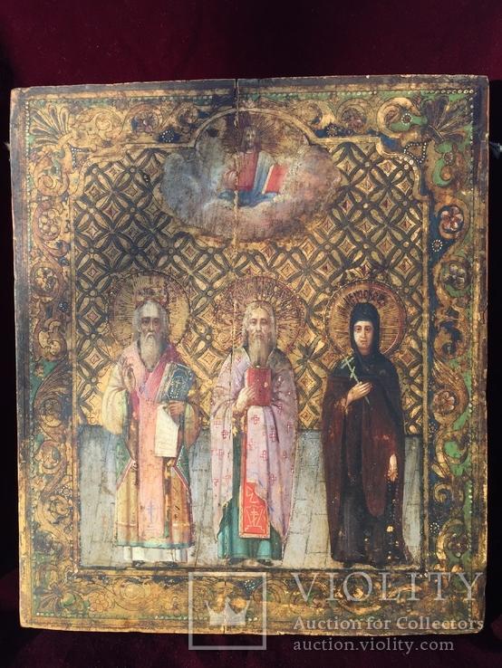 Икона Святых на золоте, фото №2
