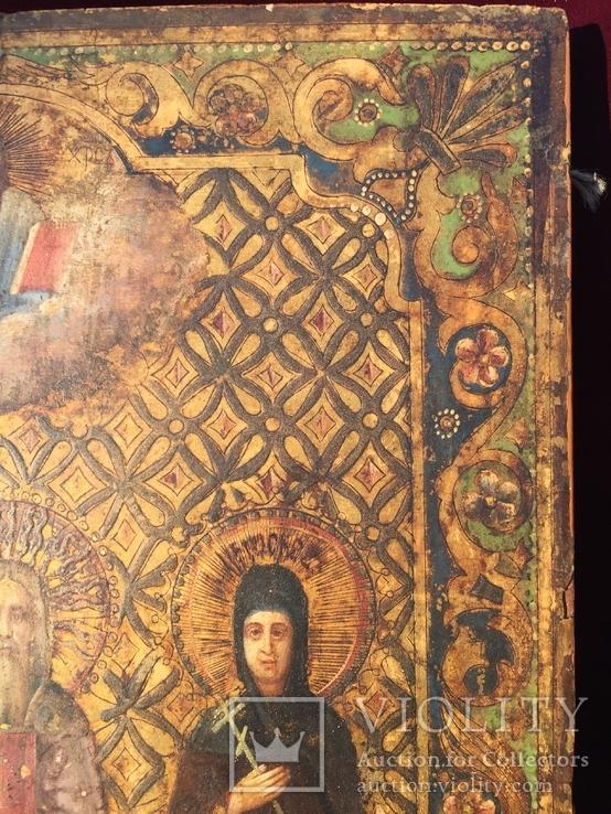 Икона Святых на золоте, фото №8