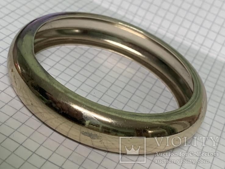 Винтажный металический браслет золотистого цвета, фото №2