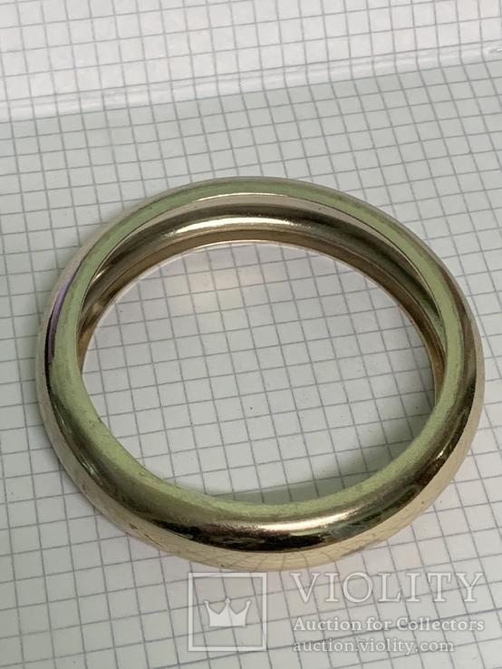 Винтажный металический браслет золотистого цвета, фото №3