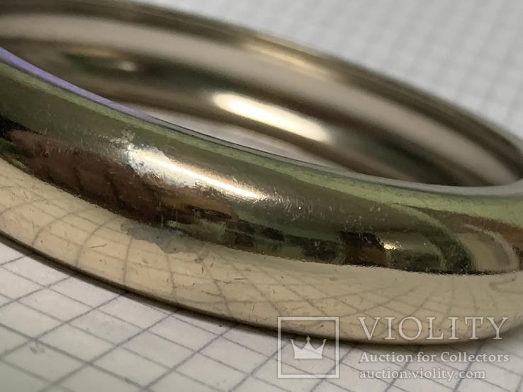 Винтажный металический браслет золотистого цвета, фото №5