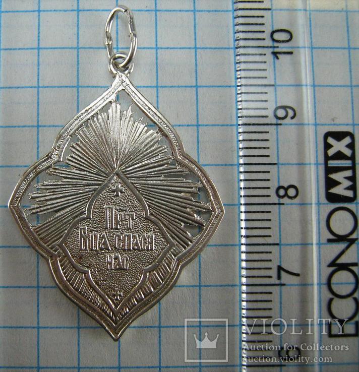Серебряный Кулон Икона Иконка Пресвятая Богородица Мария Молящаяся 925 проба Серебро 865, фото №4