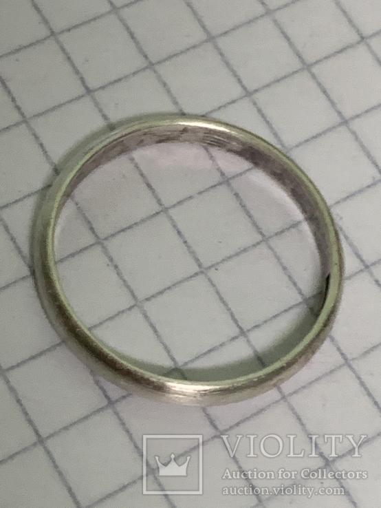 Обручальное Кольцо 18 размер серебро 916 звезда, фото №4
