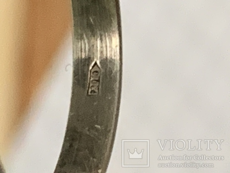 Обручальное Кольцо 18 размер серебро 916 звезда, фото №5