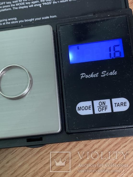 Обручальное Кольцо 18 размер серебро 916 звезда, фото №7