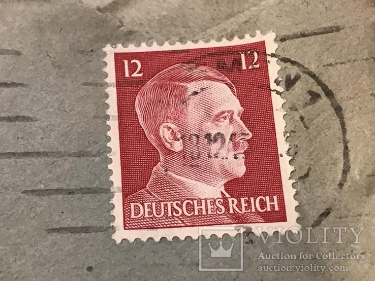 Марки рейха на конверте и письме . 1942 и 1944 года, фото №4