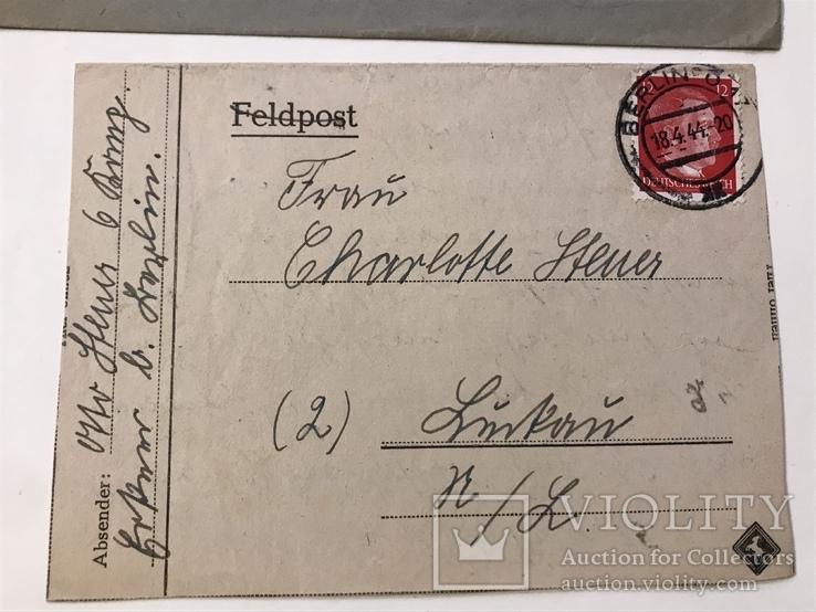 Марки рейха на конверте и письме . 1942 и 1944 года, фото №5