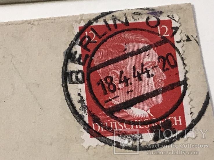 Марки рейха на конверте и письме . 1942 и 1944 года, фото №6
