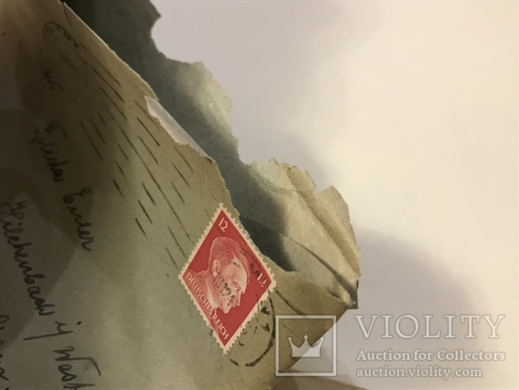 Марки рейха на конверте и письме . 1942 и 1944 года, фото №8