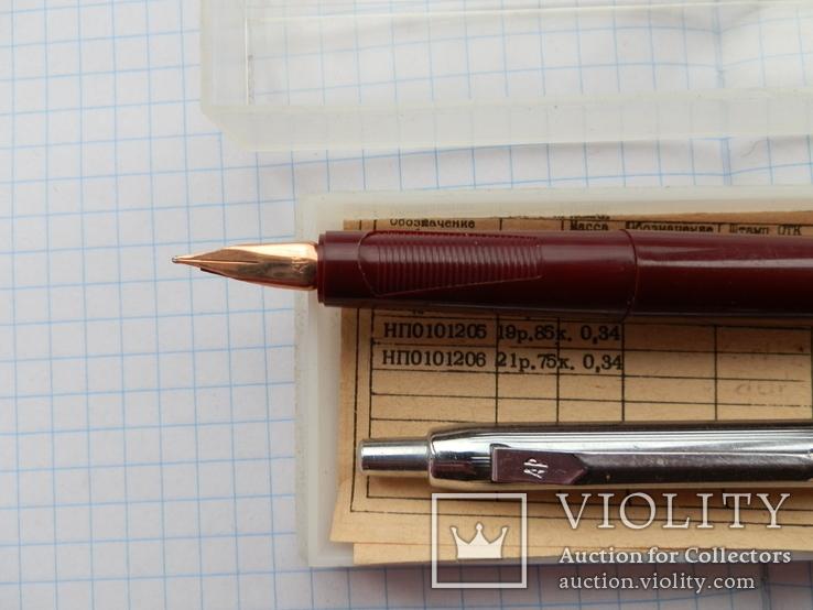 Ручка с золотым пером. набор. ссср, фото №3