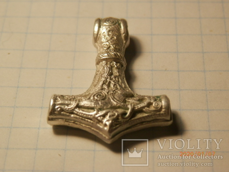 Амулет молот тора серебро копия, фото №5
