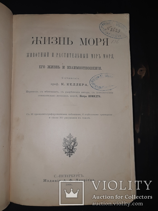 1896 Жизнь моря в 2 томах, фото №8