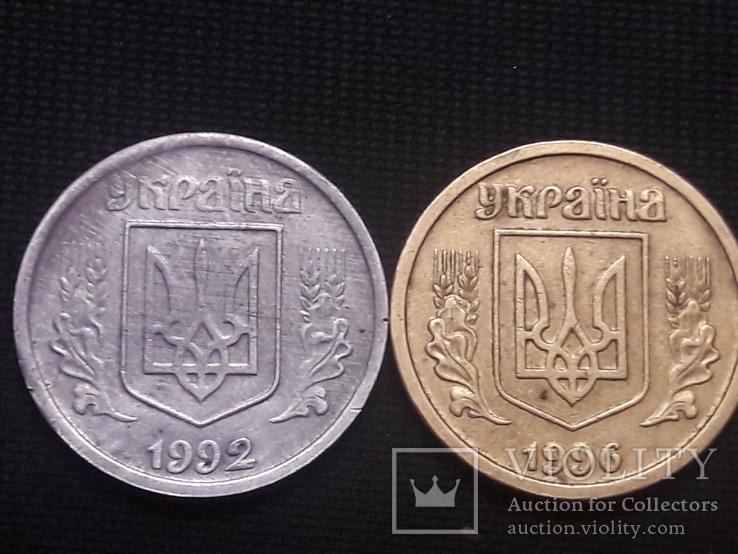 1 грн 1992 из алюминия / фальшак, фото №2