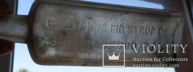California fig syrup co.  бутылочка от сиропа, фото №3