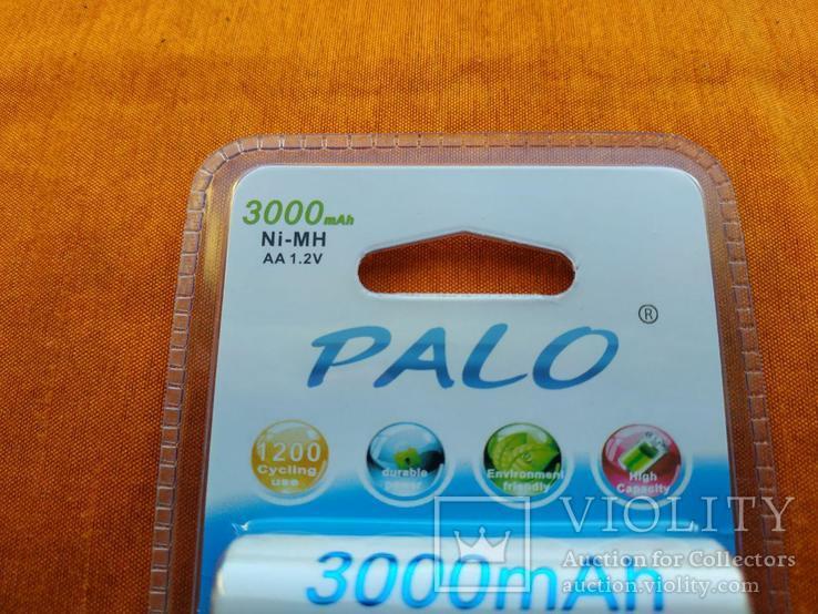 Аккумуляторы Palo АА 3000mAh 4 шт + Подарок!, фото №3