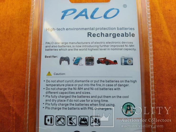 Аккумуляторы Palo АА 3000mAh 4 шт + Подарок!, фото №4