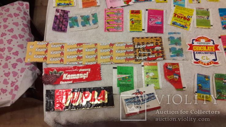 Обертки, фантики от жвачек и конфет из 90-хх. Одним лотом., фото №4