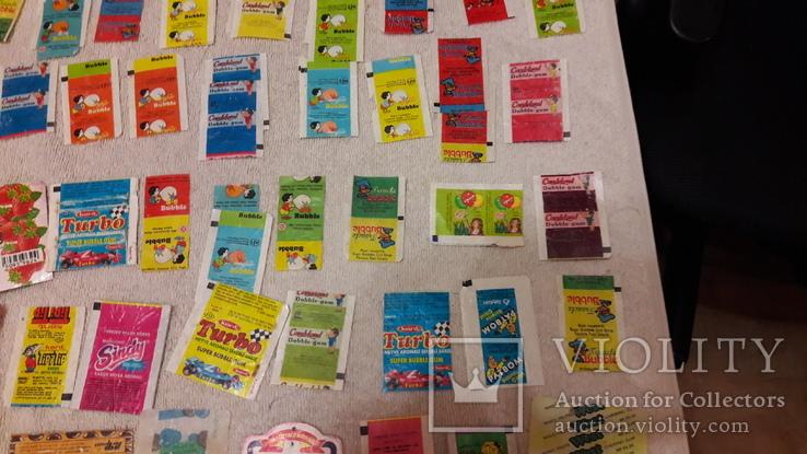 Обертки, фантики от жвачек и конфет из 90-хх. Одним лотом., фото №5