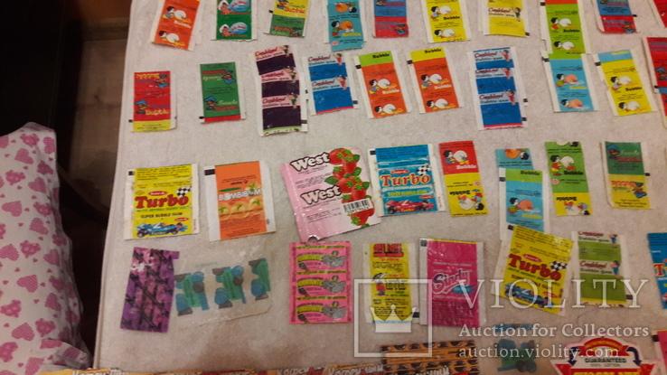 Обертки, фантики от жвачек и конфет из 90-хх. Одним лотом., фото №6