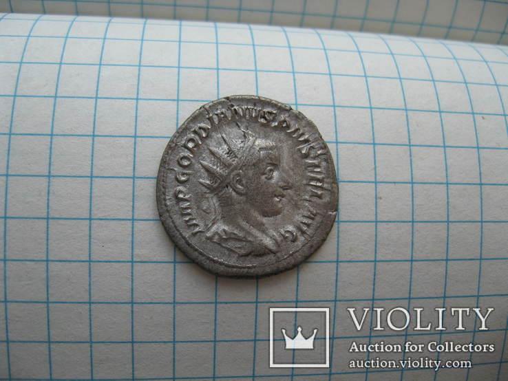 Антониниан Гордиан III (243-244 год н.э.) MARS, фото №5