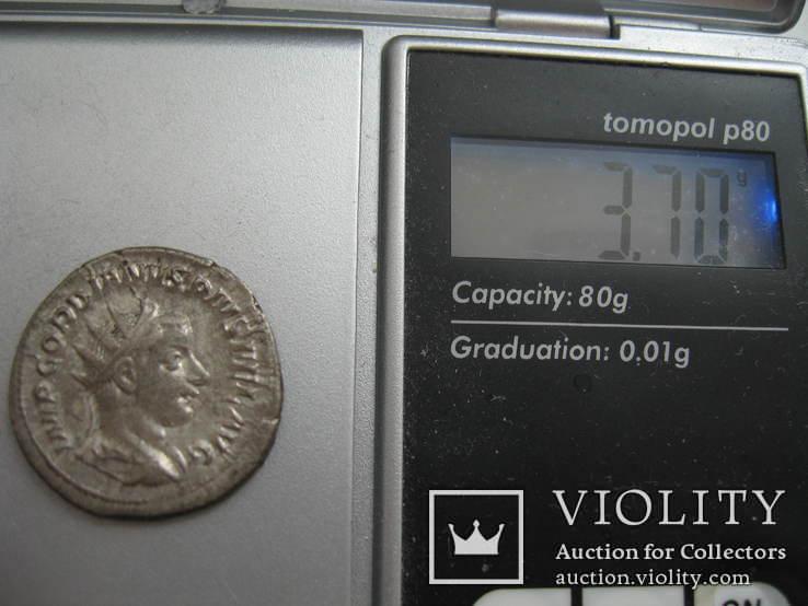 Антониниан Гордиан III (243-244 год н.э.) MARS, фото №8