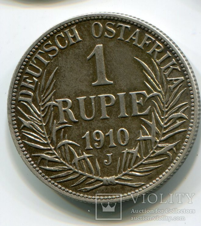 1 рупия 1910 J Немецкая восточная Африка