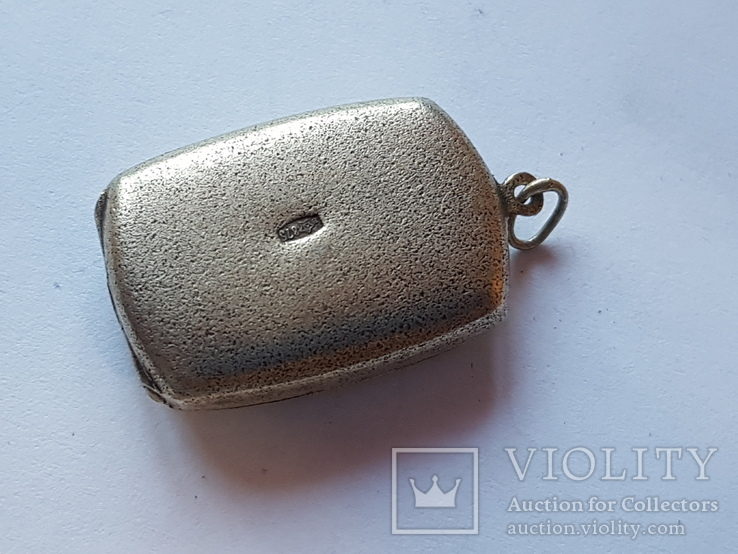 Советский кулон под фото. Серебро 875 проба., фото №4