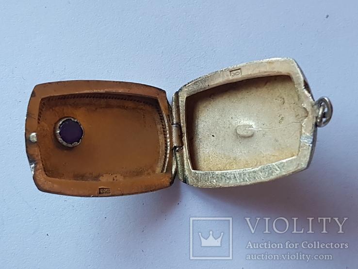 Советский кулон под фото. Серебро 875 проба., фото №10