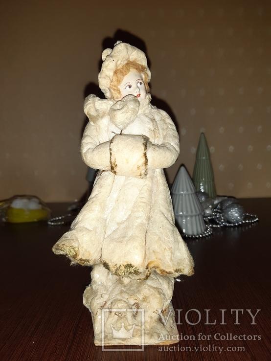 """Ёлочная ватная игрушка """"Девушка с муфтой """", фото №2"""
