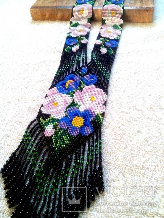 Украшение из бисера, Гердан - оберег ′Мир цветов′, фото №2