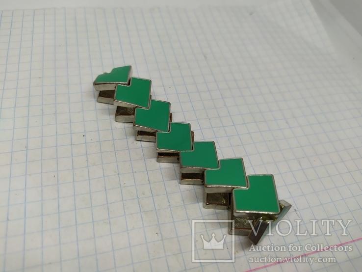 Браслет с бирюзовыми звеньями. Основа-металл (2), фото №6