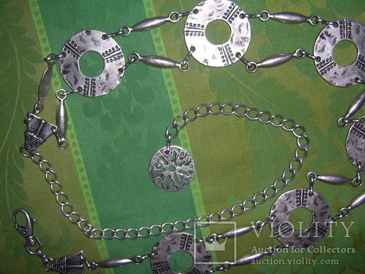 Пояс из тяж.металла в скандинавском стиле - реконструктору, фото №12