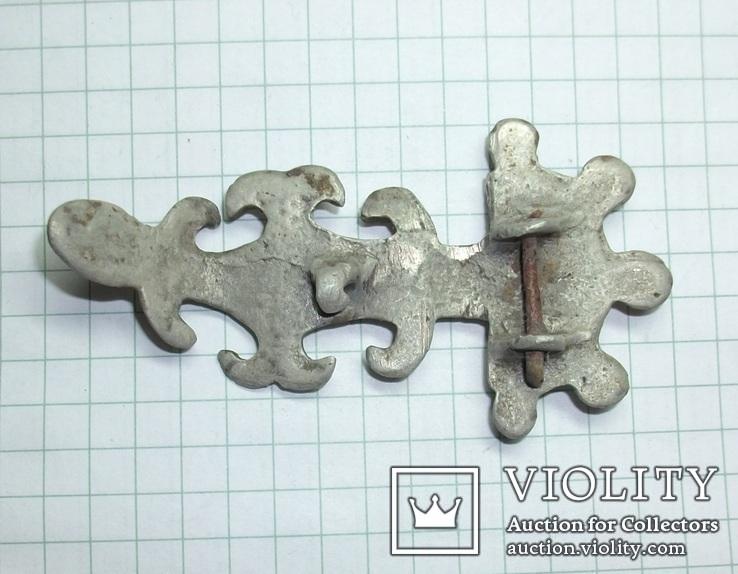 Серебряная фибула периода ЧК/ПК., фото №3
