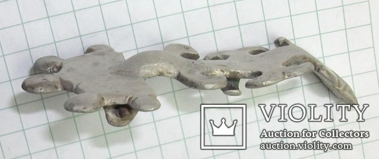 Серебряная фибула периода ЧК/ПК., фото №8