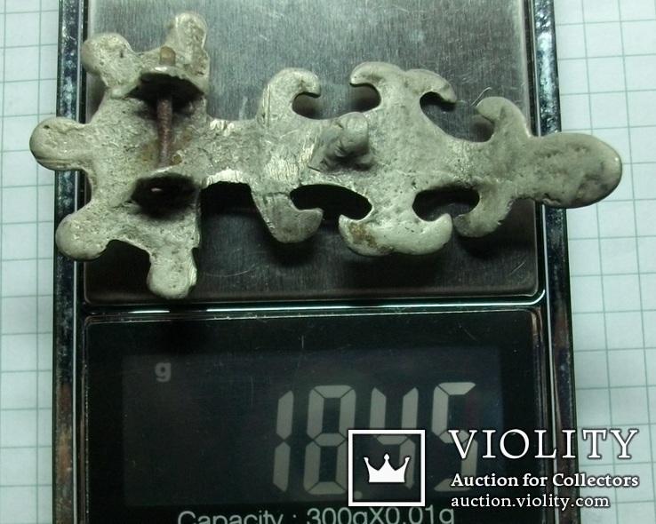 Серебряная фибула периода ЧК/ПК., фото №13