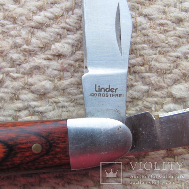 Складной нож Linder с номером на лезвии, фото №4