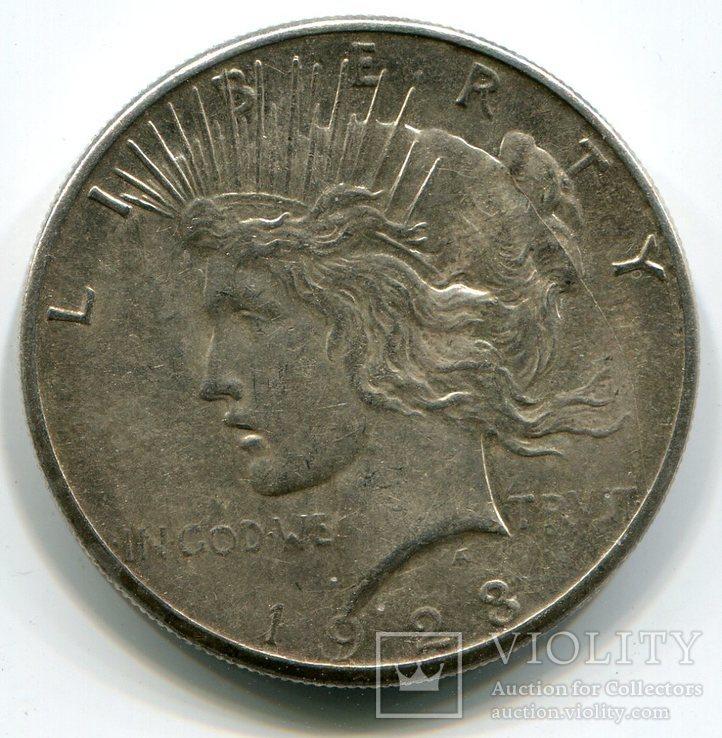 Мирный доллар 1923 г. Серебро. Монетный двор S, фото №2