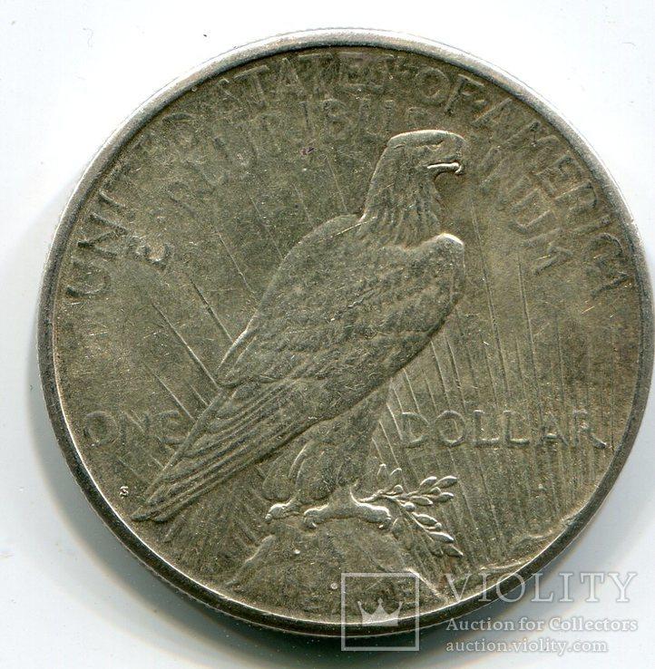 Мирный доллар 1923 г. Серебро. Монетный двор S, фото №3