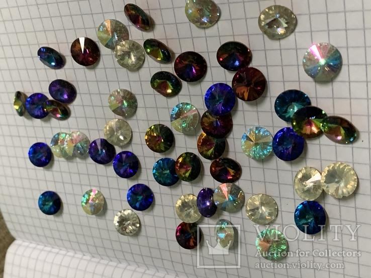 Кристаллы 10,5 мм-50 шт( чешское стекло 70 е года) для ремонта винтажных украшений, фото №2