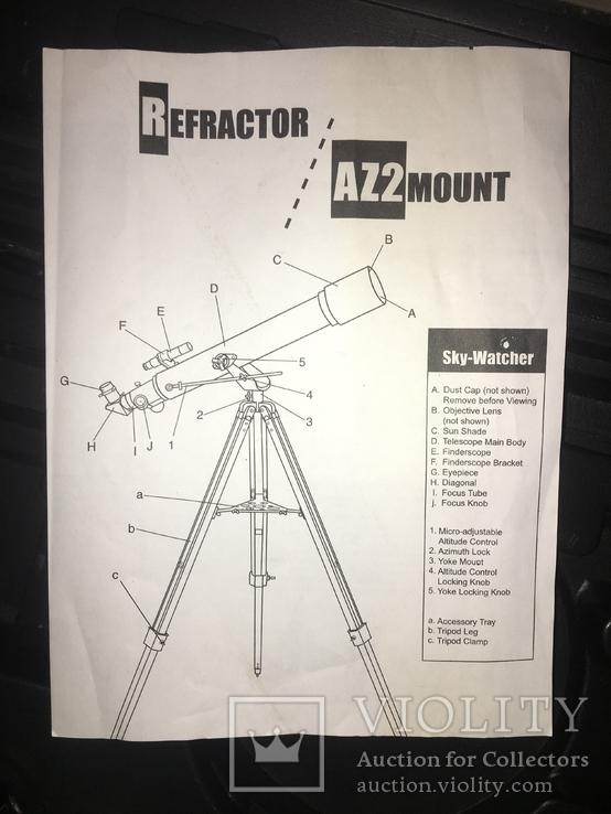 Телескоп рефрактор Sky-Watcher 607AZ2 D=60mm F=700 mm, фото №6