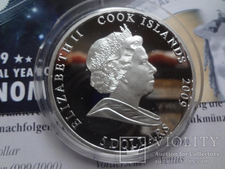 5 долларов 2009 о-ва  Кука год Астрономии Венера   серебро  999, фото №6