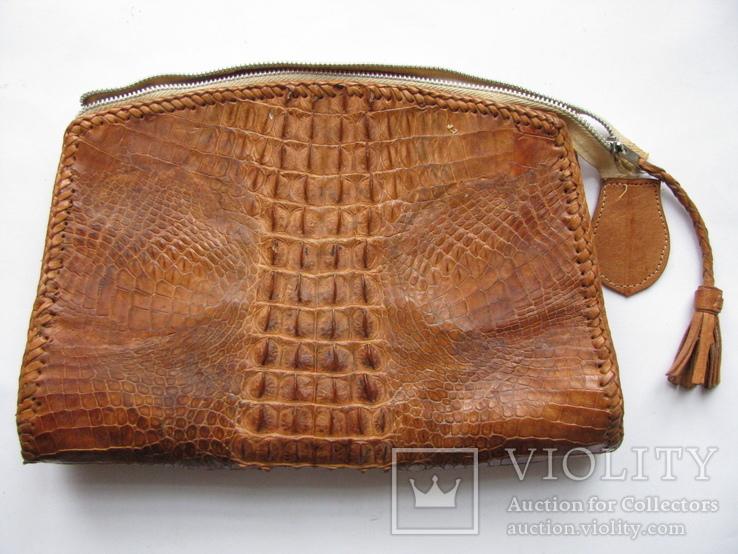 Сумка.кожа крокодила.ручная работа.винтаж, фото №5