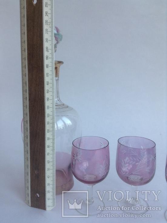 Графин и рюмки. Цветное стекло., фото №3