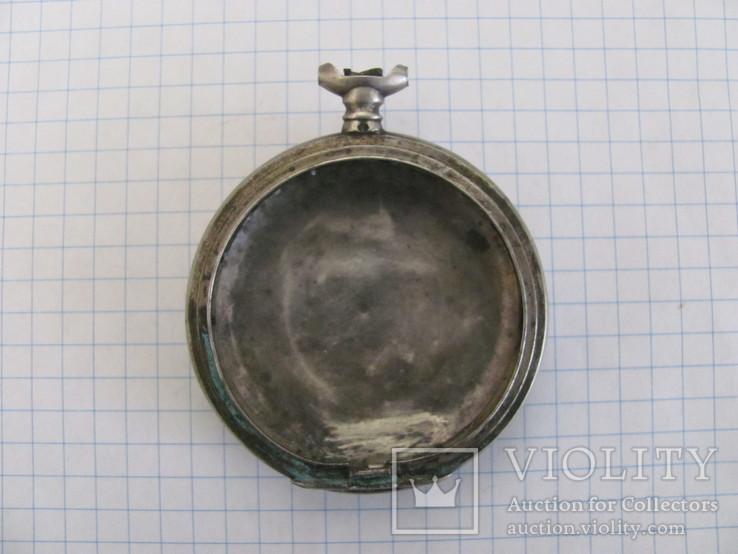Серебряный корпус часов с одной крышкой, фото №3